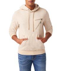 men's 7 for all mankind 7 zip pockets hoodie, size medium - beige