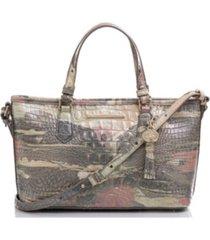 brahmin mini asher leather satchel