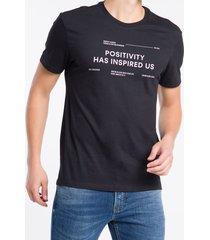 camiseta mc regular frase meia rolo gc - preto - ggg