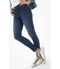 jean para mujer topmark, silueta lilly plano y cintura con pretina