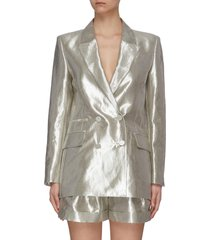 metallic notch lapel double breast jacket