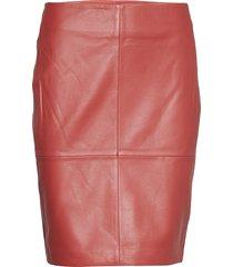 2nd cecilia knälång kjol röd 2ndday