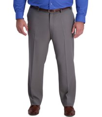 haggar men's big & tall active series classic-fit performance stretch dress pants