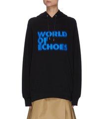 x françois k. world of echoes slogan logo print hoodie