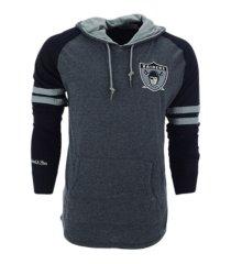 mitchell & ness las vegas raiders men's lightweight hoodie 2.0