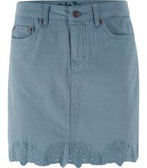 gonna di jeans elasticizzata con ricamo (grigio) - john baner jeanswear