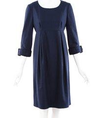burberry wool cashmere dress blue sz: s