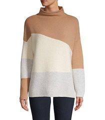 wool-blend colorblock sweater