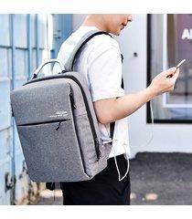 mochila para hombre, mochila de los hombres de augur oxford para el-gris