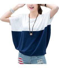 el gran tamaño de verano tops mujer estudiante short-sleeved bat camiseta t-shirt