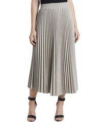 women's metallic sparkled pleated skirt