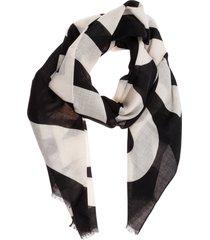 moschino cross wool scarf