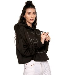 buzo negro adidas originals crop hoodie