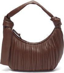 'neptune' pleated leather hobo bag