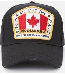 dsquared2 men's flag baseball cap - black