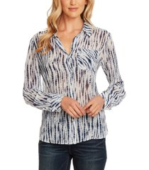 vince camuto ikat rivers printed button-front shirt