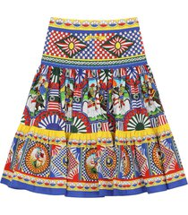 dolce & gabbana patterned pleated skirt