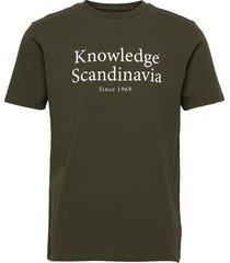 alder heavy tee kca scandinavia pri t-shirts short-sleeved grön knowledge cotton apparel