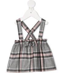 il gufo check print skirt - grey
