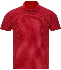 polo print cruces color rojo, talla l