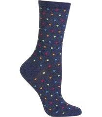 hot sox women's tiny hearts trouser socks