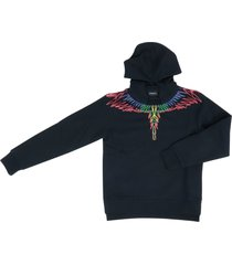 marcelo burlon hood outline wings sweatshirt
