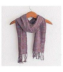 cotton scarf, 'shapes and silhouettes' (guatemala)