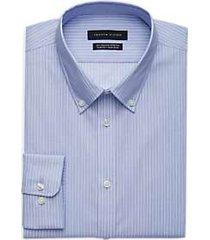 tommy hilfiger blue stripe slim fit dress shirt
