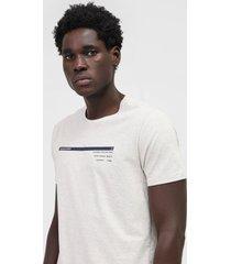 camiseta aleatory lettering off-white/cinza