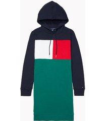 tommy hilfiger women's essential flag sweatshirt dress sky captain - xs
