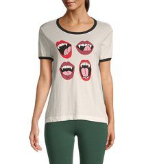 wildfox women's johnny fang graphic t-shirt - vanilla - size xs
