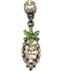 broche armazém rr bijoux abacaxi dourado