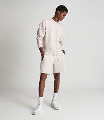 reiss alistar - oversized garment dye sweatshirt in off white, mens, size xxl