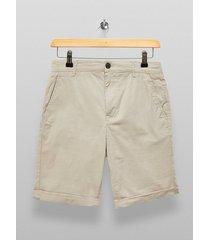 mens selected homme cream paris shorts