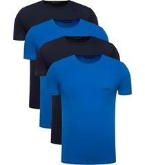 emporio armani 4-pack t-shirt blauw/donkerblauw