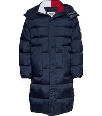 tjm long padded park parka jas blauw tommy jeans