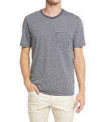 men's billy reid stripe pocket t-shirt, size x-large - blue