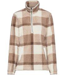 anf womens sweatshirts sweat-shirt trui beige abercrombie & fitch
