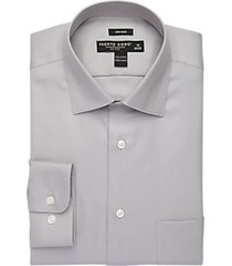 pronto uomo gray non-iron dress shirt