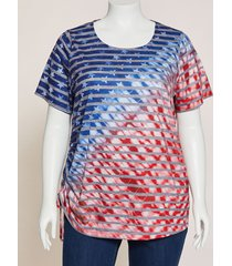 stars & stripes ruched-side tunic