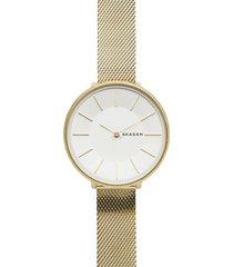 relógio skagen karolina dourado skw2722/1dn
