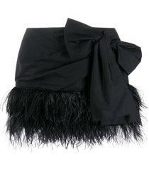 nº21 bow mini skirt - black