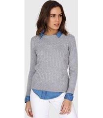 sweater gris mecano classic