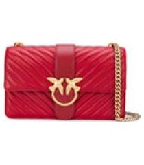 pinko bolsa tiracolo love matelassê - vermelho