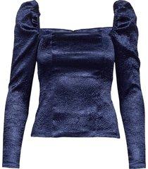 nomie blouse 12734 blouse lange mouwen blauw samsøe & samsøe
