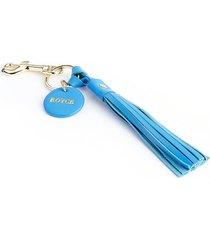 royce new york tassel key chain - light blue