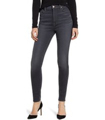 7 for all mankind high waist ankle skinny jeans, size 31 in classic grey at nordstrom