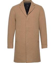 slhhagen wool coat b yllerock rock beige selected homme