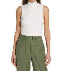 women's madewell pearson mock-neck sweater tank, size x-small - white
