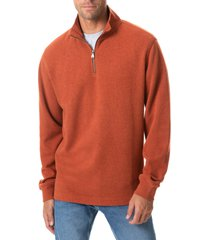 men's rodd & gunn alton ave regular fit pullover sweatshirt, size medium - orange